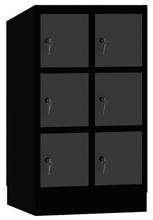 00150447 Szafa dla dzieci, 2 segmenty, 6 drzwi (wymiary: 1053x610x480 mm)