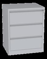 00150462 Szafa kartotekowa na teczki A4 poziome, 2 rzędy, 3 szuflady (wymiary: 995x770x630 mm)