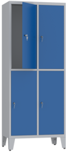 00150505 Szafa skrytkowa na nogach, 2 segmenty, 4 skrytki (wymiary: 2010x810x480 mm)