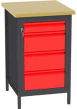 00150683 Stanowisko pod wiertarkę, 4 szuflady (wymiary: 880x550x600 mm)