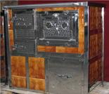00350314 Kuchnia na węgiel z piekarnikiem 8kW z płaszczem wodnym (wylot spalin: tył)