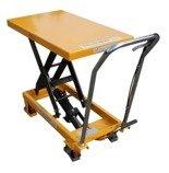 00546096 Wózek paletowy stołowy (udźwig: 300 kg, min./max. wysokość podestu: 285/880 mm, wymiary platformy: 850x500 mm)