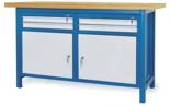 00853634 Stół warsztatowy, 2 drzwi, 4 szuflady (wymiary: 1500x900x740 mm)