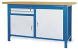 00853635 Stół warsztatowy, 2 drzwi, 2 szuflady (wymiary: 1500x900x740 mm)