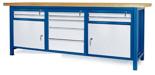 00853662 Stół warsztatowy, 2 drzwi 9 szuflad (wymiary: 2100x900x740 mm)