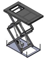 01860647 Podnośnik, podest nożycowy (udźwig: 500 kg, wymiary: 2500x1800mm, skok: 3000mm, moc: 2,3kW)