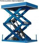 01862165 Podnośnik, podest nożycowy (udźwig: 500 kg, wymiary: 1410x1320mm, skok: 1400mm, moc: 1,1kW)