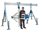 03055651 Wciągarka bramowa aluminiowa z wciągnikiem (szerokość całkowita regulowana: 2100mm, wysokość całkowita regulowana: 2110–2510mm, udźwig suwnicy/wciągnika: 1500/1500kg kg)
