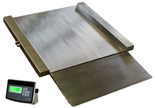 04048999 Waga najazdowa ze stali szlachetnej bez legalizacji (nośność: 300/600 kg, podziałka: 100/200 g, wymiary: 800x800x45 mm)