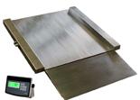 04060435 Waga najazdowa ze stali szlachetnej bez legalizacji (nośność: 750/1500kg, podziałka: 200/500g, wymiary: 1250x1250x45mm)