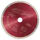 05017132 Profesjonalna, drobnoziarnista tarcza diamentowa z pełnym brzegiem do cięcia na mokro z diamentowym ostrzem 10mm (Porcelanowy gres / Twarda ceramika / Granit) CERMONT ART.CPS350 (średnica: 350mm)