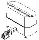 06652835 Automatyczny podajnik do spalania biomasy 2m3 230V 40kW, głowica: żeliwna (paliwo: trociny, wióry, zrębki, kora, brykiet, agrobrykiet, pellet, pestki owoców)
