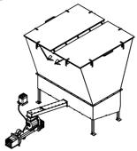 06652842 Automatyczny podajnik do spalania biomasy 10m3 400V 40kW, głowica: żeliwna (paliwo: trociny, wióry, zrębki, kora, brykiet, agrobrykiet, pellet, pestki owoców)