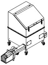 06652843 Automatyczny podajnik do spalania biomasy 1m3 230V 60kW, głowica: żeliwna (paliwo: trociny, wióry, zrębki, kora, brykiet, agrobrykiet, pellet, pestki owoców)