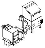 06653045 Automatyczny zestaw do spalania biomasy 0,6m3 400V 30kW, głowica: ceramiczna, bez systemu usuwania popiołu (paliwo: trociny, wióry, zrębki)
