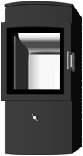 07135637 Piec wolnostojący żeliwny Austroflamm 6kW Chester (wylot spalin: 150mm)