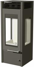 07135642 Piec wolnostojący Austroflamm 4kW Glass (wylot spalin: 130mm)