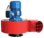 08549484 Wentylator przeciwwybuchowy promieniowy stanowiskowy WPA-9-E/Ex (obroty synchroniczne: 3000 1/min, moc: 2,2 kW, wydajność wentylatora: 4500 m3/h)