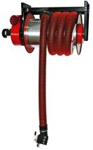 08549691 Odsysacz spalin, bęben odsysacza z napędem sprężynowym, przepustnicą, zestawem wężowym, stoperem gumowym - bez ssawki, wentylatora i wyłącznika silnikowego ALAN/P-U/C-12 (długość węża: 12m, średnica: 125mm)