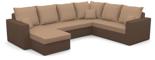 11260943 Narożnik z funkcją spania i poduszkami, sprężyna bonell (wymiary: 290x235 cm)