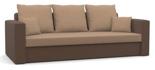 11260948 Kanapa z funkcją spania i poduszkami, pianka (wymiary: 225x92 cm)