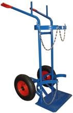 13340549 Wózek dwukołowy spawalniczy do przewozu butli gazowych (nośność: 300 kg)