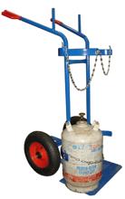 13340553 Wózek dwukołowy spawalniczy do przewozu butli gazowych (nośność: 300 kg)