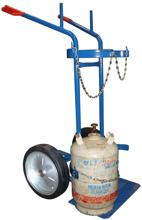 13340554 Wózek dwukołowy spawalniczy do przewozu butli gazowych (nośność: 400 kg)