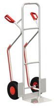 13346391 Wózek dwukołowy aluminiowy ręczny do przewozu kręgów oraz skrzynek (nośność: 200 kg)