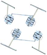 13360195 Zestaw transportowy, rolki poliamidowe,  4 skrętne dyszle (nośność: 10 T)