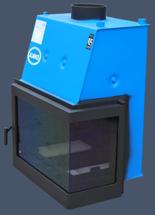 17013557 Wkład kominkowy Enka 18kW Wiktor Prawy UO - układu z naczyniem wyrównawczym otwartym z płaszczem wodnym (prawa boczna szyba)