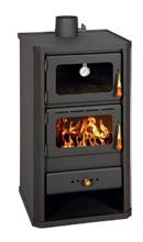 23055337 Piec wolnostojący 12kW z piekarnikiem na drewno, węgiel (górny wylot spalin: 130mm)