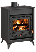 23055356 Piec wolnostojący 15kW na drewno, węgiel (górny wylot spalin: 130mm)