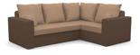 25460947 Narożnik z funkcją spania i poduszkami, sprężyna bonell (wymiary: 235x185 cm)
