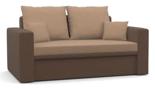 25460951 Sofa z funkcją spania i poduszkami, sprężyna bonell (wymiary: 152x87 cm)