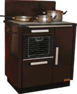 25915623 Kuchnia węglowa 9,2kW KATARZYNA z wężownicą, wylot spalin z tyłu z prawej strony (kolor: brązowy)
