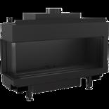 30054027 Wkład kominkowy na gaz 4,3-9,2kW LEO 100 na gaz techniczny LPG (lewa boczna szyba)