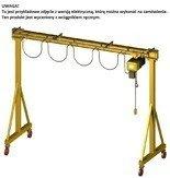 33948184 Wciągarka bramowa skręcana miproCrane DELTA 300 (udźwig: 500 kg, rozpiętość: 1800 mm, wysokość podnoszenia: 2200 mm)