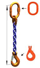 33948246 Zawiesie łańcuchowe jednocięgnowe klasy 10 miproSling KLHW 19 (długość łańcucha: 1m, udźwig: 19 T, średnica łańcucha: 22 mm, wymiary ogniwa: 260x140 mm)