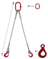 33948385 Zawiesie linowe dwucięgnowe miproSling LE 23,5/17,0 (długość liny: 1m, udźwig: 17-23,5 T, średnica liny: 40 mm, wymiary ogniwa: 340x180 mm)