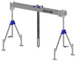 33960040 Wciągarka bramowa aluminiowa z wózkiem pchanym i wciągnikiem łańcuchowym miproCrane DELTA 500S (udźwig: 1000 kg, szerokość: 7100 mm, wysokość: 2240/3660 mm)