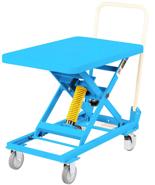39955554 Wózek platformowy nierdzewny nożycowy ze sprężyną (wysokość podnoszenia: 262-659 mm, wymiary: 700x450mm, udźwig: 50 kg)