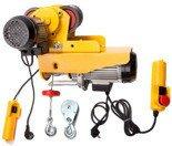 55951163 Wyciągarka linowa elektryczna Industrial 300/600 230V, hamulec automatyczny (udźwig: 300/600 kg) + wózek elektryczny 1T