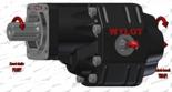 72355200 Pompa hydrauliczna zębata do wywrotu - lewy kierunek obrotów (objętość geometryczna: 133 cm3/obr, zakres obr: 250-1500, ciśnienie nominalne: 21 MPa)