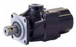 72355226 Pompa hydrauliczna tłoczkowa prosta do wywrotu - lewy i prawy kierunek obrotów (objętość geometryczna: 28 cm3/obr, zakres obr: 300-1800, maks. ciśnienie pracy ciągłej: 35 MPa)