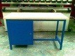 77156849 Stół warsztatowy dwustanowiskowy, 1 szafka (wymiary: 2000x750x900 mm)