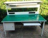 77156978 Stół montażowy z nadstawką, 1 szuflada (wymiary: 1200x600x750 mm)