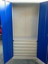 77157226 Szafa narzędziowa, 5 szuflad, 3 półki regulowane (wymiary: 2000x970x500 mm)