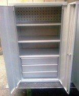 77157238 Szafa narzędziowa, 2 szuflady, 3 półki (wymiary: 1250x600x400 mm)