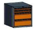 99551576 Szafka typ I, 4 szuflady 200+200+75+75 (wymiary: 625x600x690 mm)